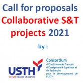 Call for collaborative S&T projects of the USTH-CONSORTIUM– Closing date: 8 May 2021
