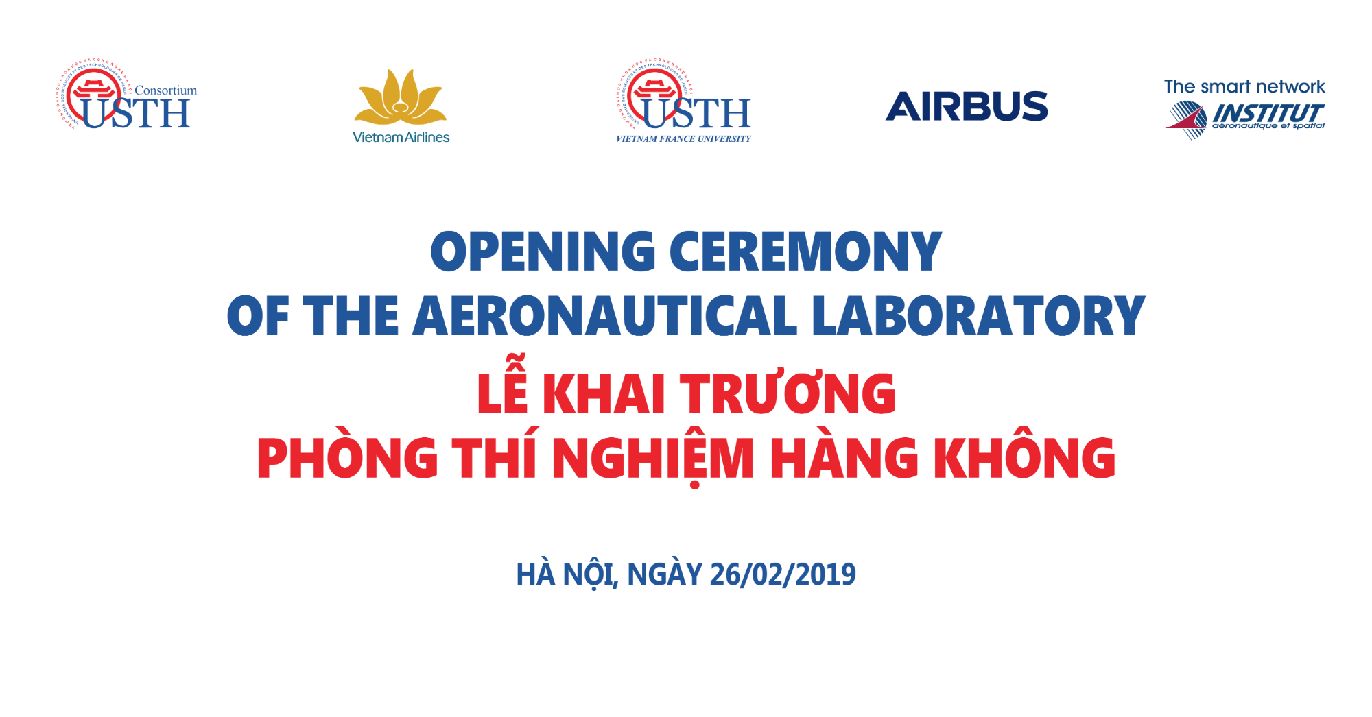 Opening Ceremony of the Aeronatical Laboratory USTH