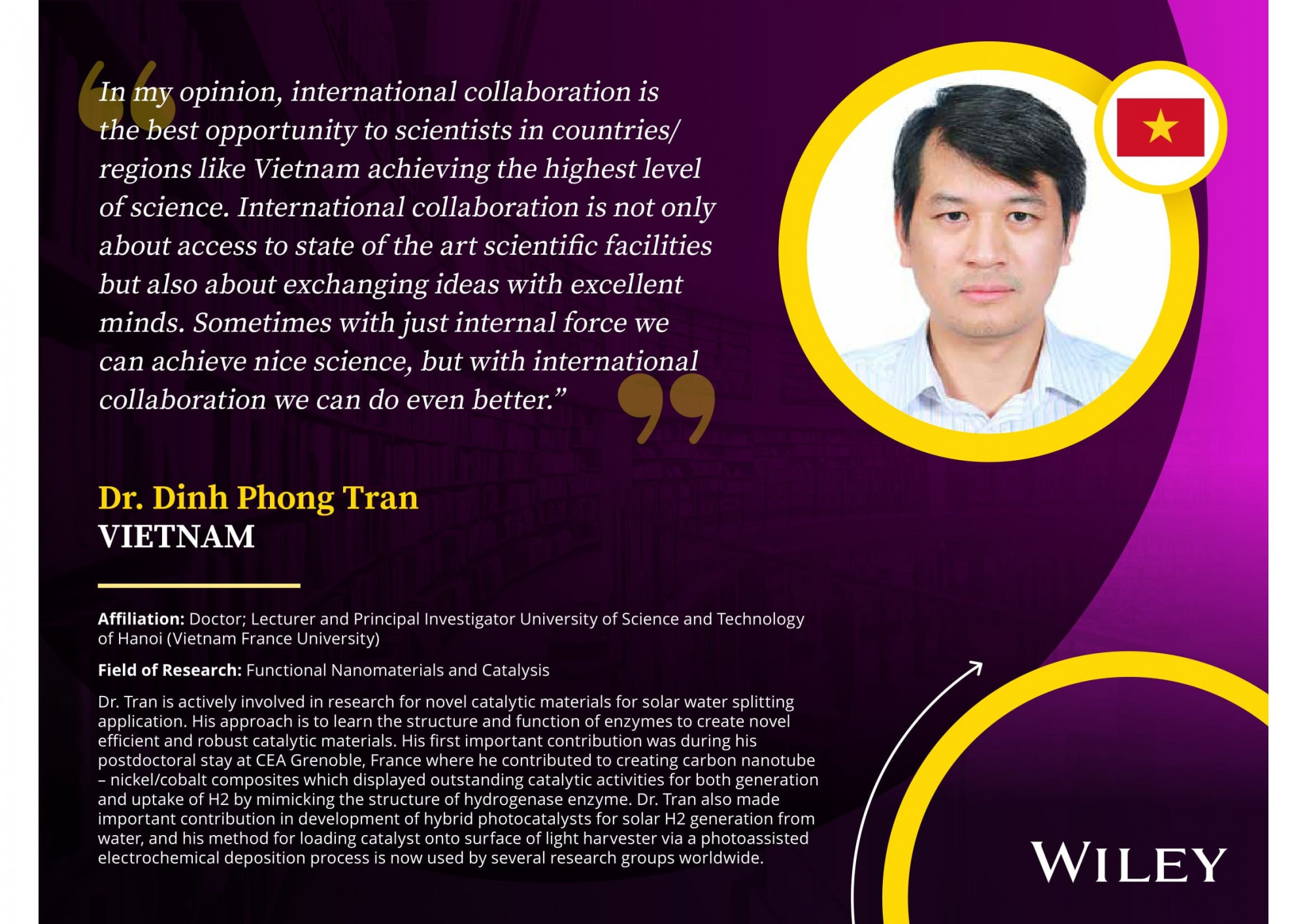 Dr. Tran Dinh Phong in the list of the top 17 nominees
