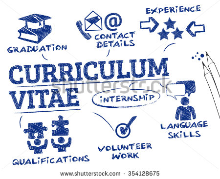 stock vector curriculum vitae concept chart with keywords and icons 354128675